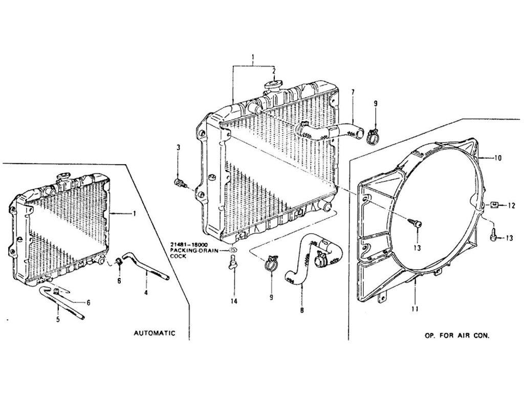 Datsun Z Radiator L28E