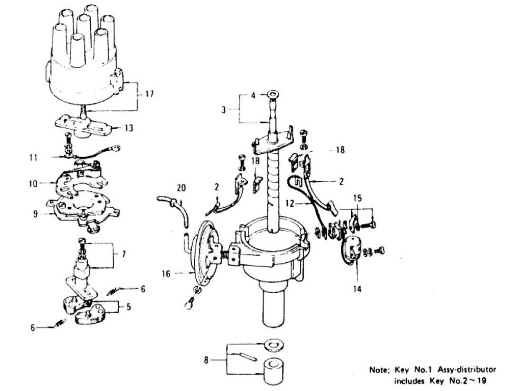 Datsun Z Distributor Index