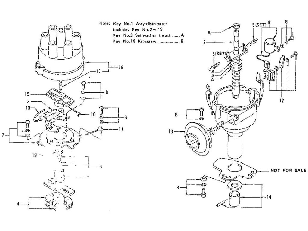 Datsun Z Distributor (For Manual) (From Sep.-'71 To Jul.-'73)