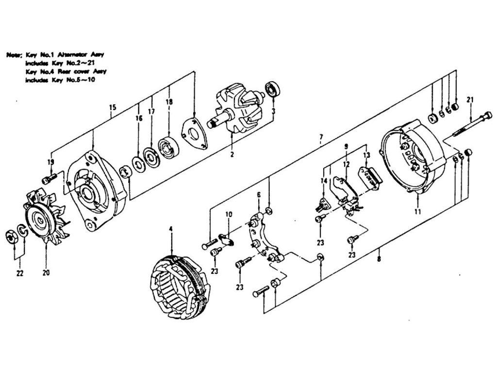 Datsun Z Alternator (12V-60A) Hitachi