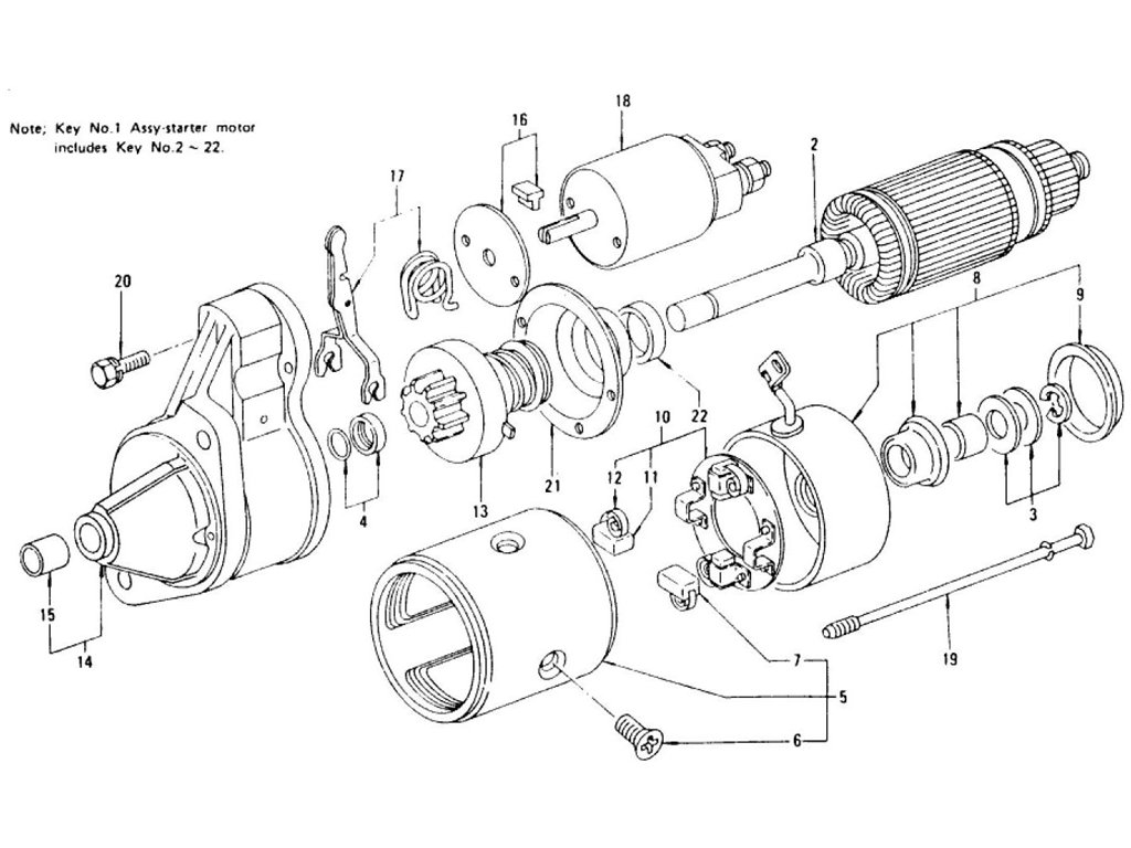 Datsun Z Starter Motor (For Manual) (From Oct.-'75)