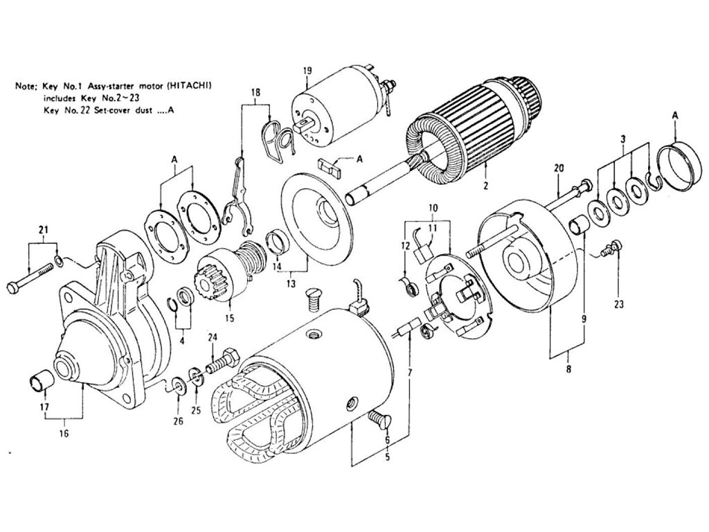 Datsun Z Starter Motor (For Automatic) (From Aug.-'72 To