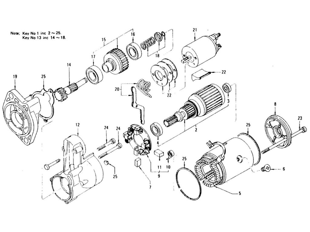 Datsun Z Starter Motor (For Automatic) (From Apr.-'77)