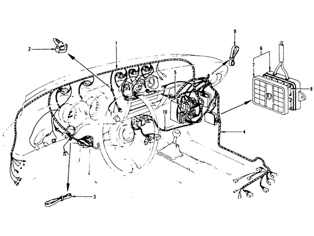 Datsun Z Wiring (Inst. & Dash) (From Dec.-'74 To Jul.-'76)
