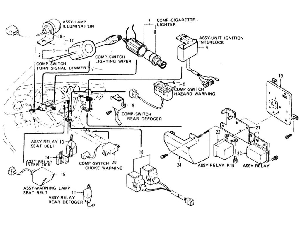 Datsun Z Electric Unit & Switch (2) (From Aug.-'73 To Nov