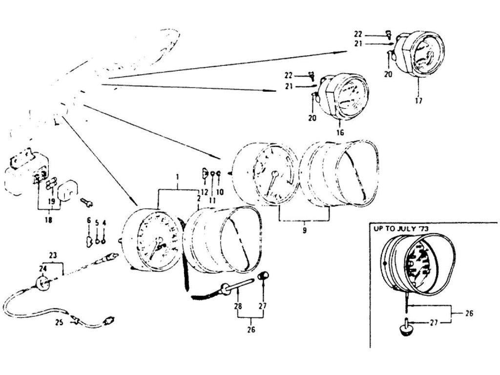 Datsun Z Speedometer, Tachometer & Combination Meter