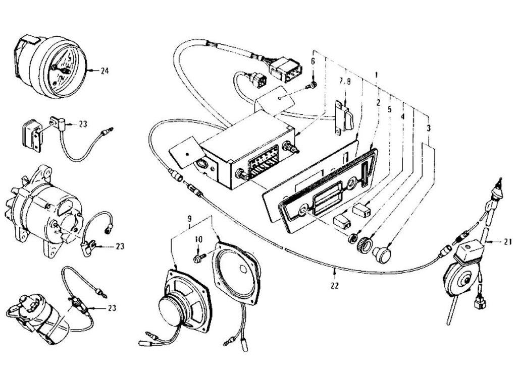 Datsun Z Radio & Clock (From Aug.-'76)