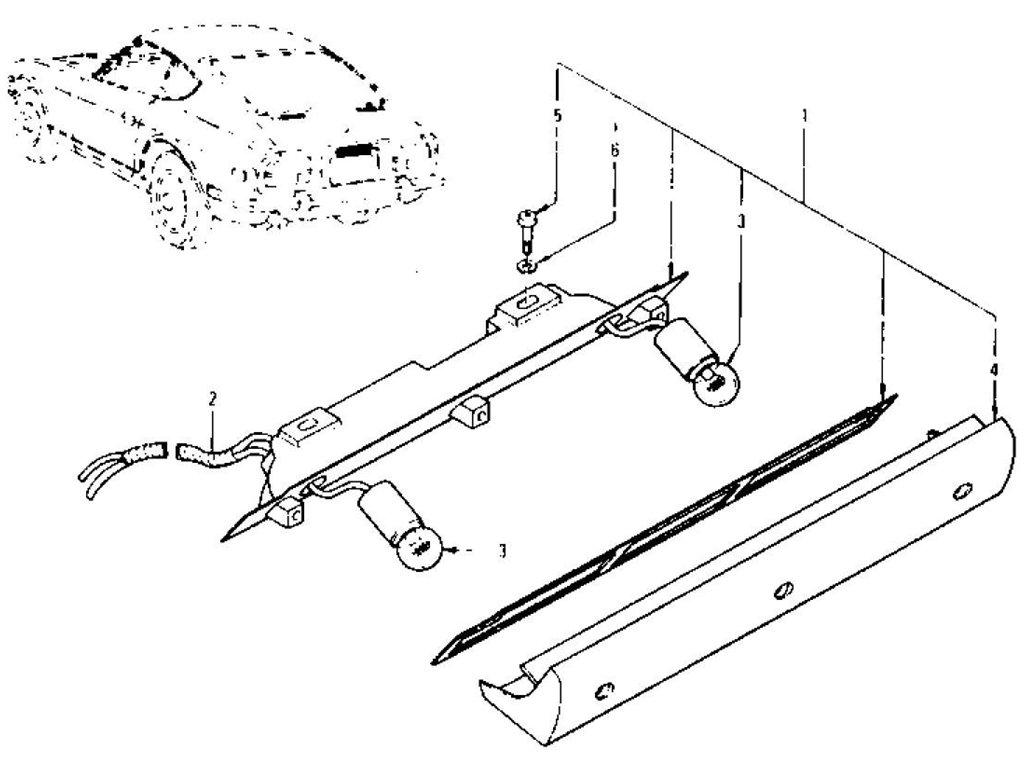 Datsun Z Licence Lamp