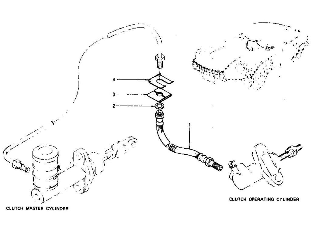 Datsun Z Clutch Control Hose