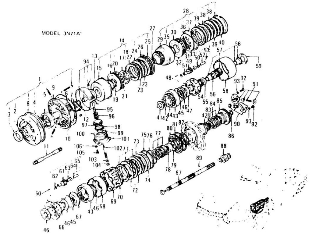 Datsun Z Transmission Gear (Automatic-3N71A) (To Mar.-'71)