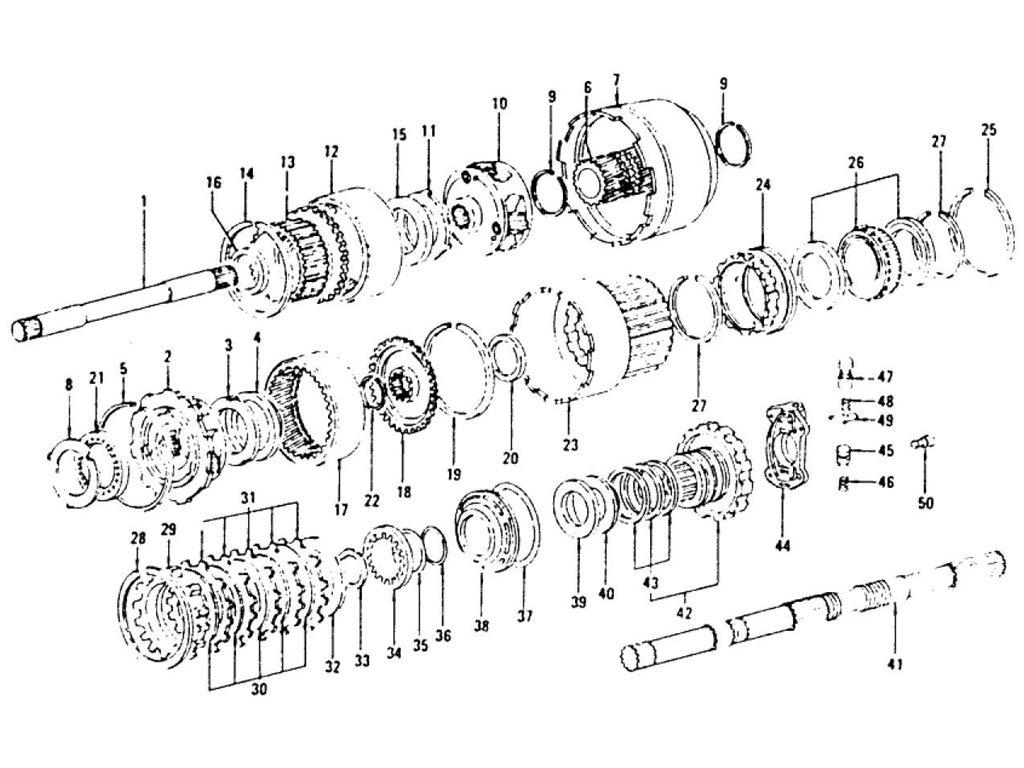 Datsun Z Transmission Gear (Automatic-3N71B) (From Apr.-'71)