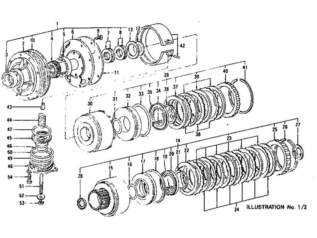 Datsun Z Oil Pump Clutch & Brake (Automatic-3N71B) (From