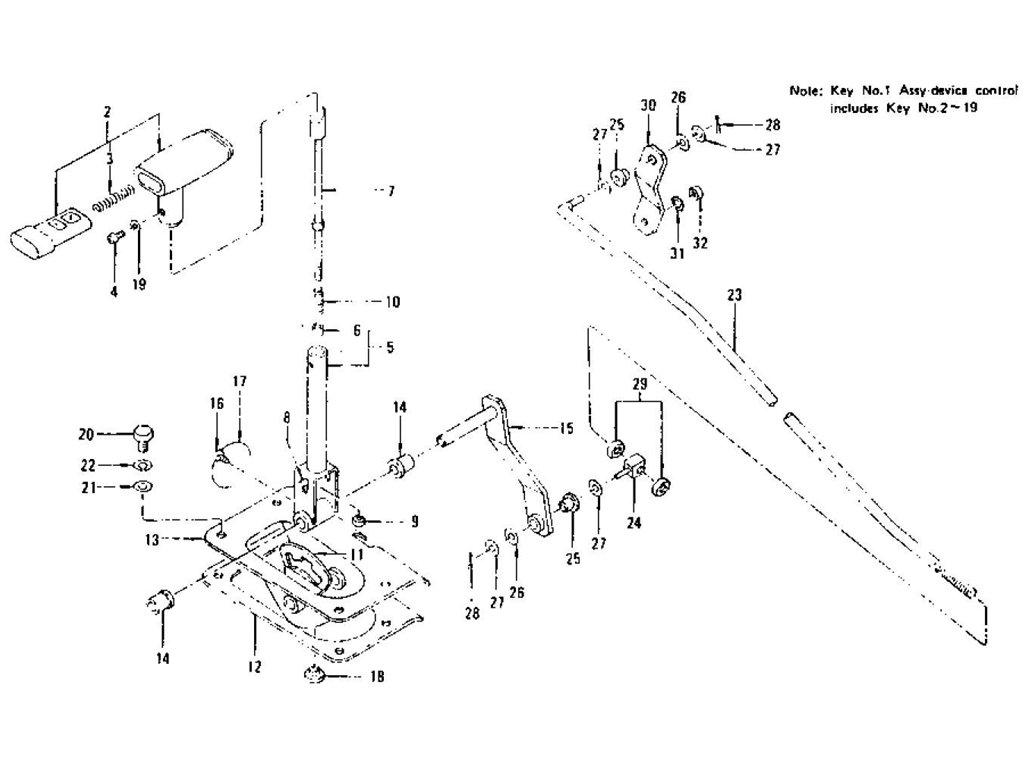 Datsun Z Transmission Control Device (Automatic-3N71A & 3N71B)
