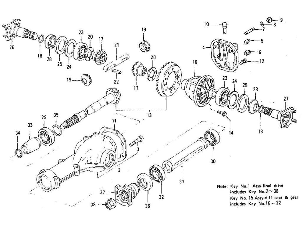 Datsun Z Differential Gear Pinion Amp Cover R200