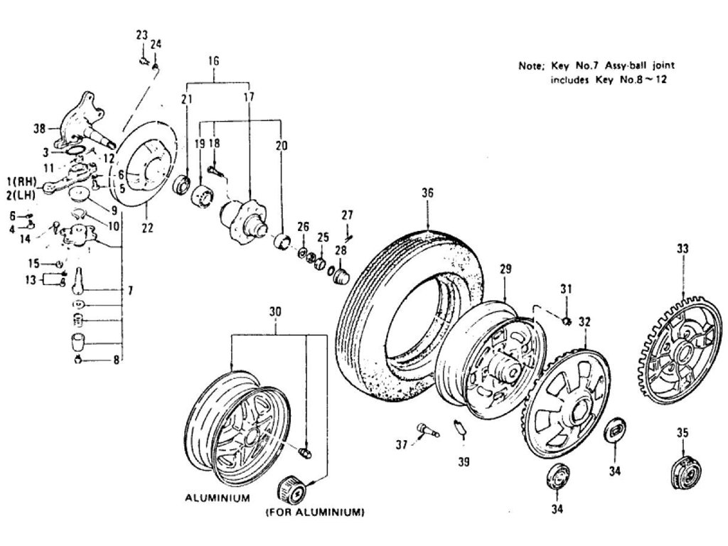 Datsun Z Axle Index