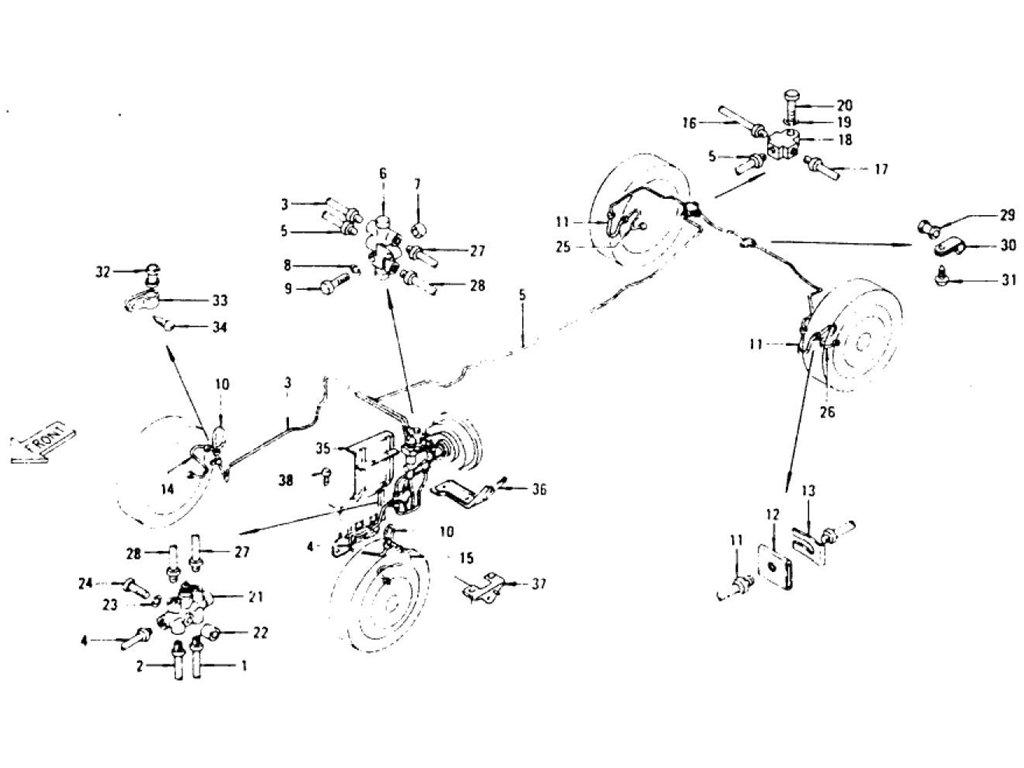 Datsun Z Brake Piping (From Jul.-'72)
