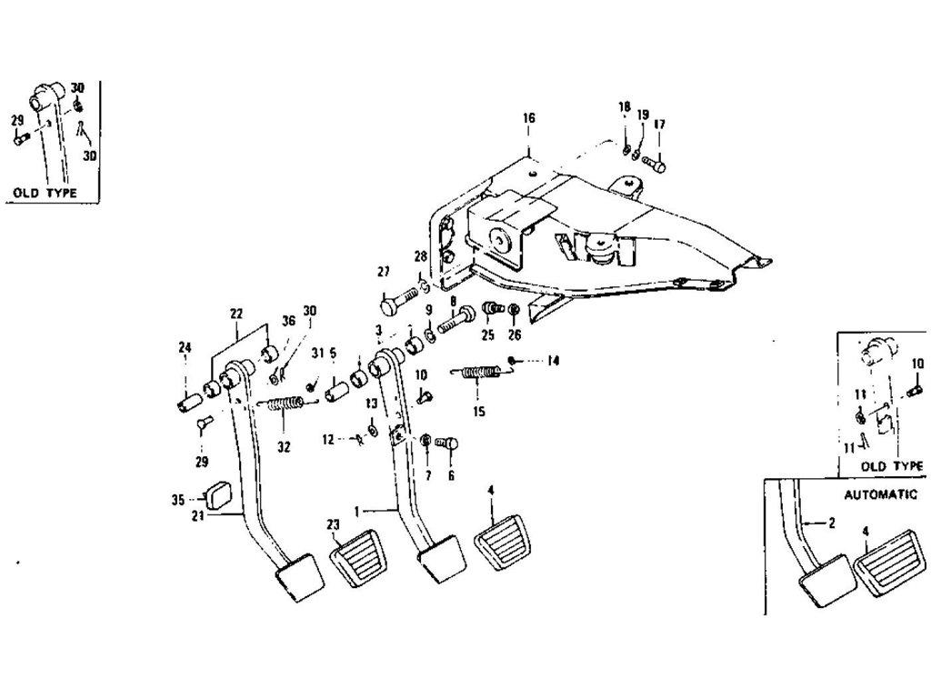 Datsun Z Brake & Clutch Pedal