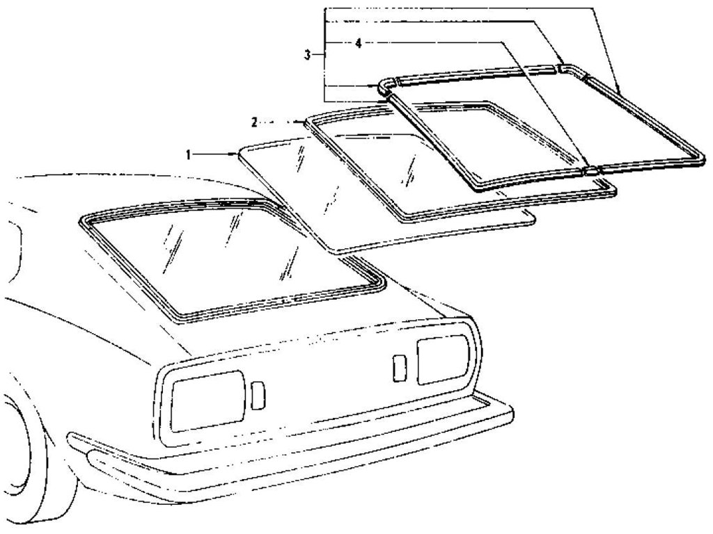 Datsun Z Tail Gate Window (2+2 Seater) (From Oct.-'73)
