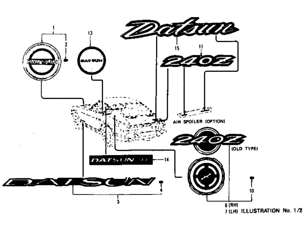 Datsun Z Emblem, Mark & Ornament Index