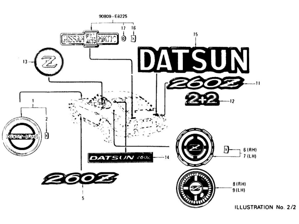Datsun Z Emblem, Mark & Ornament (To Jul.-'73)