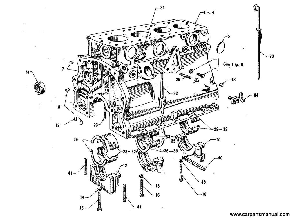 Datsun Bluebird (410) Cylinder Block