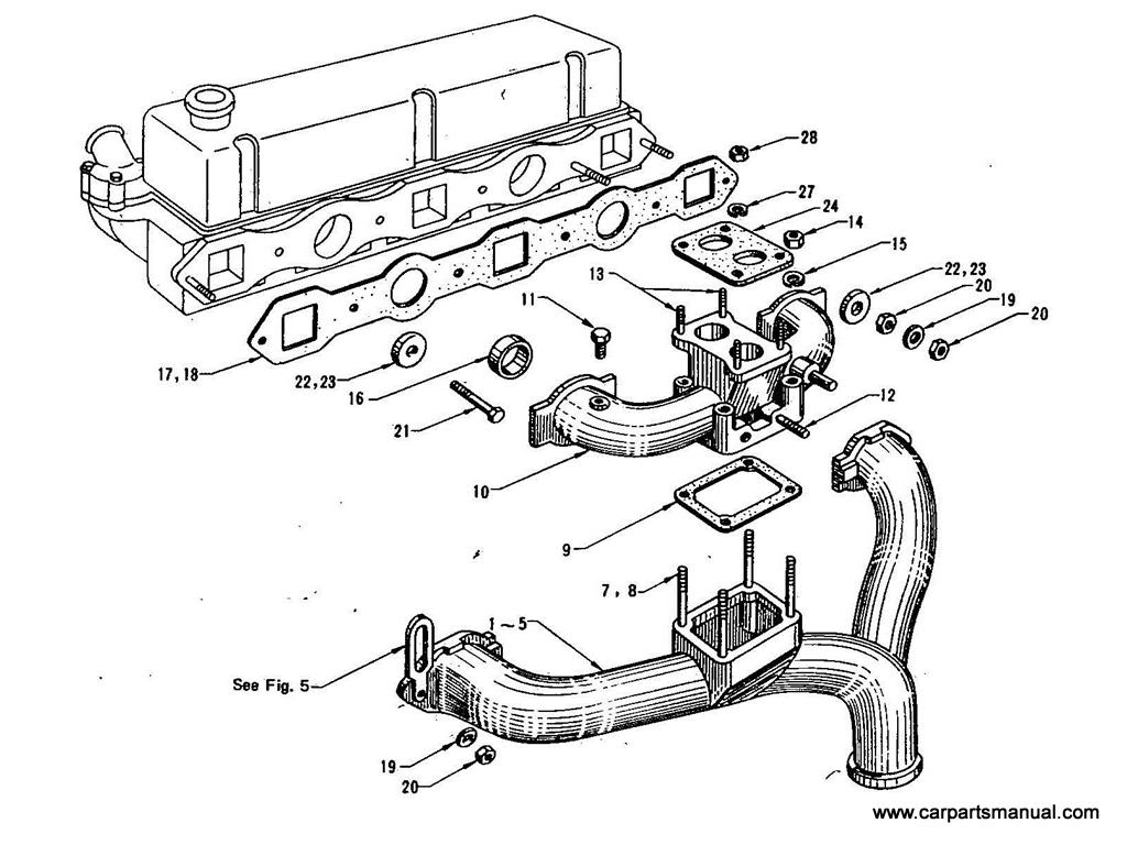Datsun Bluebird (410) Manifold