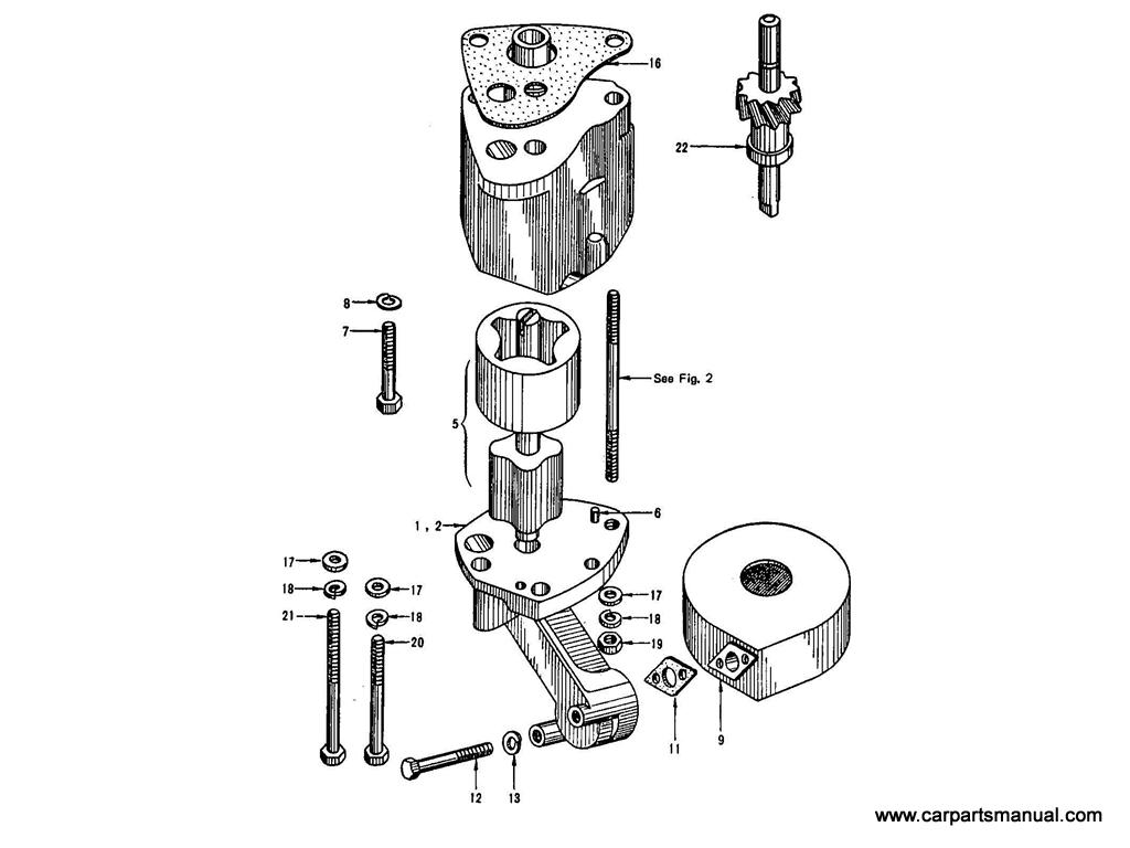Datsun Bluebird (410) Oil Pump (To E/#E1-547143)