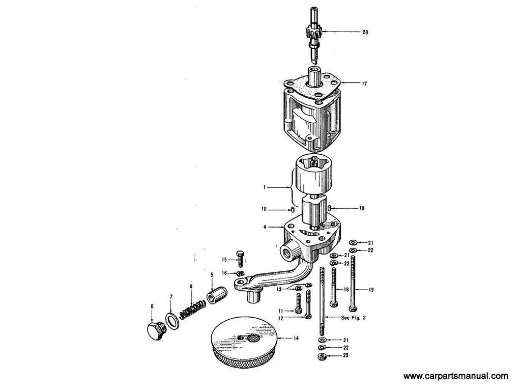 Datsun Bluebird (410) Oil Pump (From E/#E1-547144)