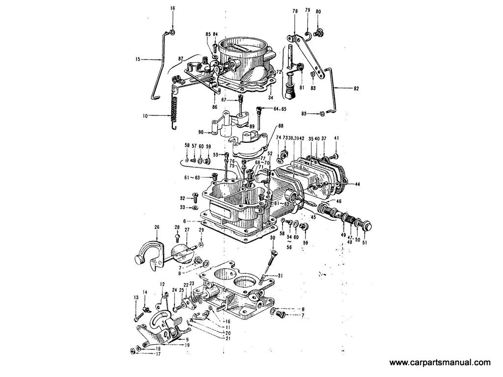 Datsun Bluebird (410) Carburetor (Nikki)