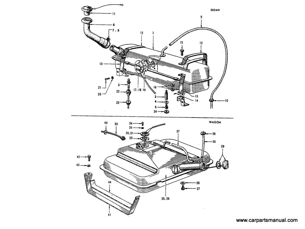 Datsun Bluebird (410) Fuel Tank