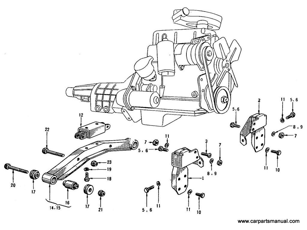 Datsun Bluebird (410) Engine Mounting