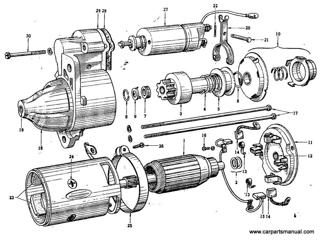 Datsun Bluebird (410) Starter Motor (Hitatch) (From Feb.-'65)