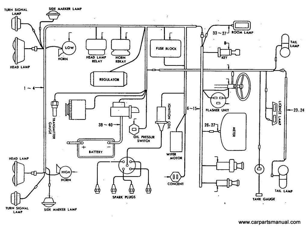 Datsun Bluebird (410) Wiring