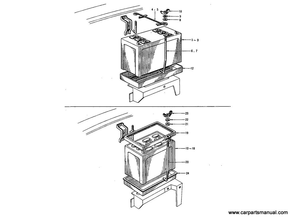 Datsun Bluebird (410) Battery