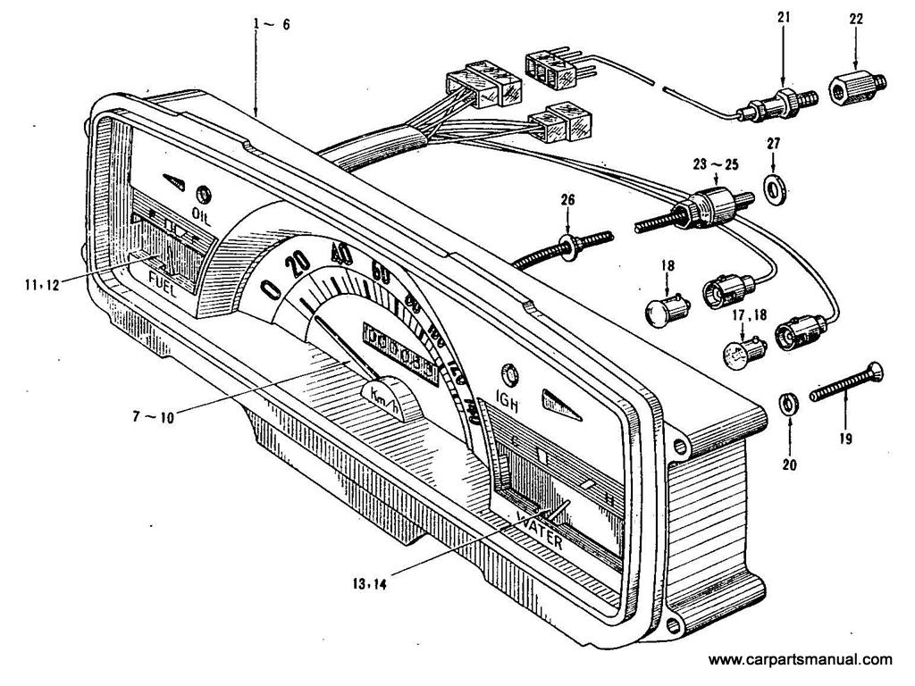 Datsun Bluebird (410) Instrument Meter