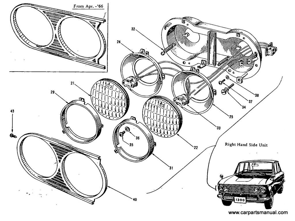 Datsun Bluebird (410) Head Lamp