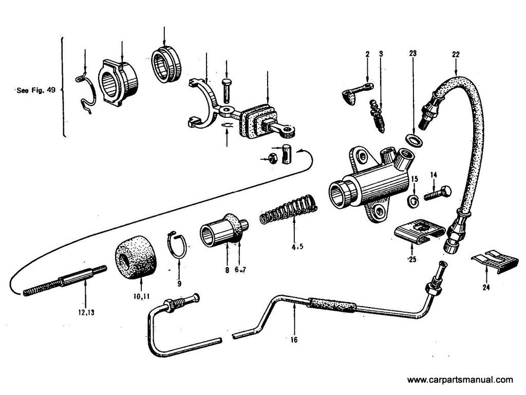 Datsun Bluebird (410) Clutch Operating Cylinder