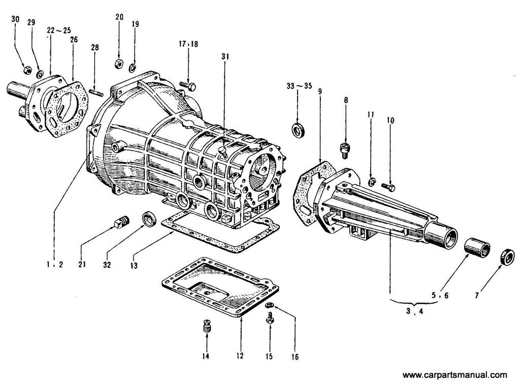 Datsun Bluebird (410) Transmission Case (3 Speed)