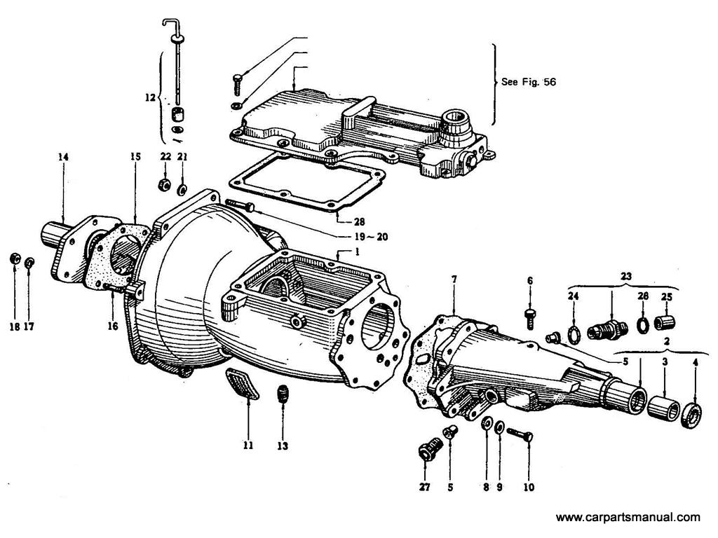 Datsun Bluebird (410) Transmission Case (4 Speed)