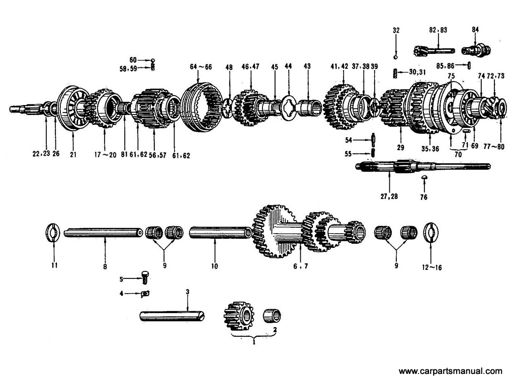 Datsun Bluebird (410) Transmission Gear