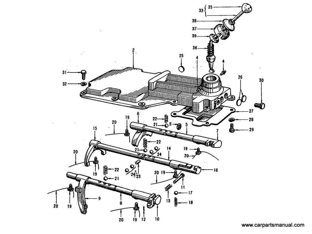 Datsun Bluebird (410) Transmission Fork & Lever (4 Speed)