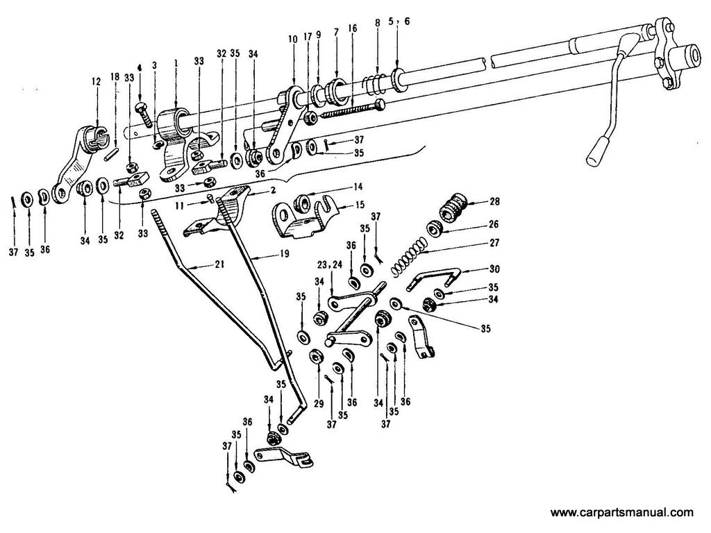 Datsun Bluebird (410) Remote Control Linkage
