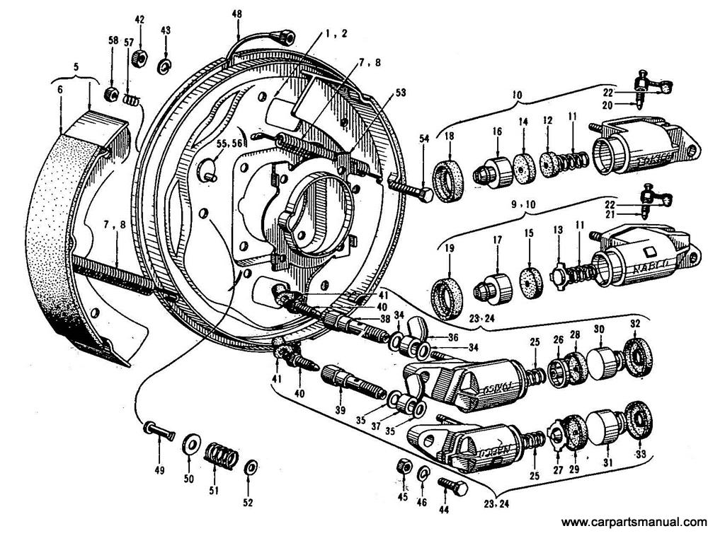 Datsun Bluebird (410) Front Brake