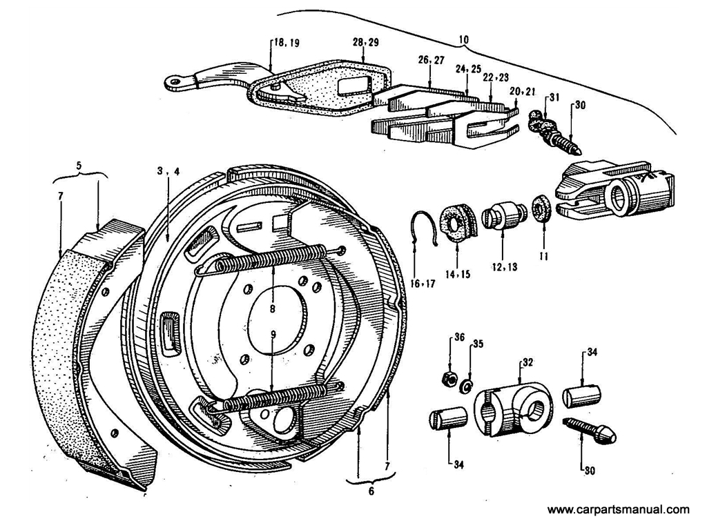 Datsun Bluebird (410) Rear Brake