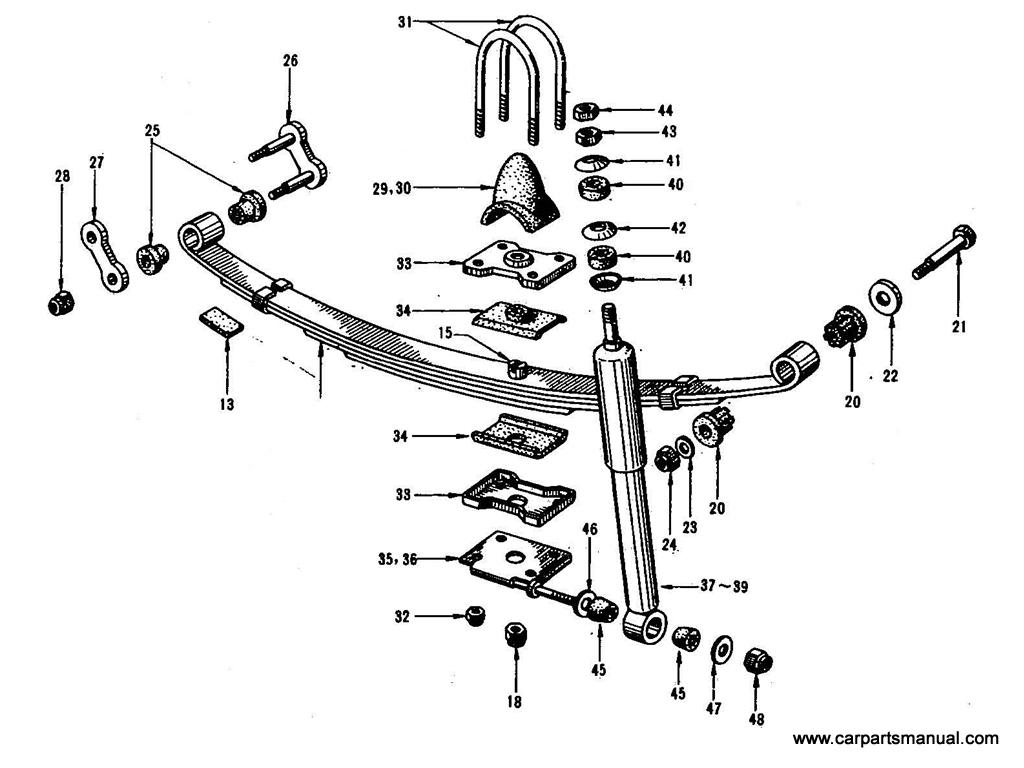Datsun Bluebird (410) Rear Suspension