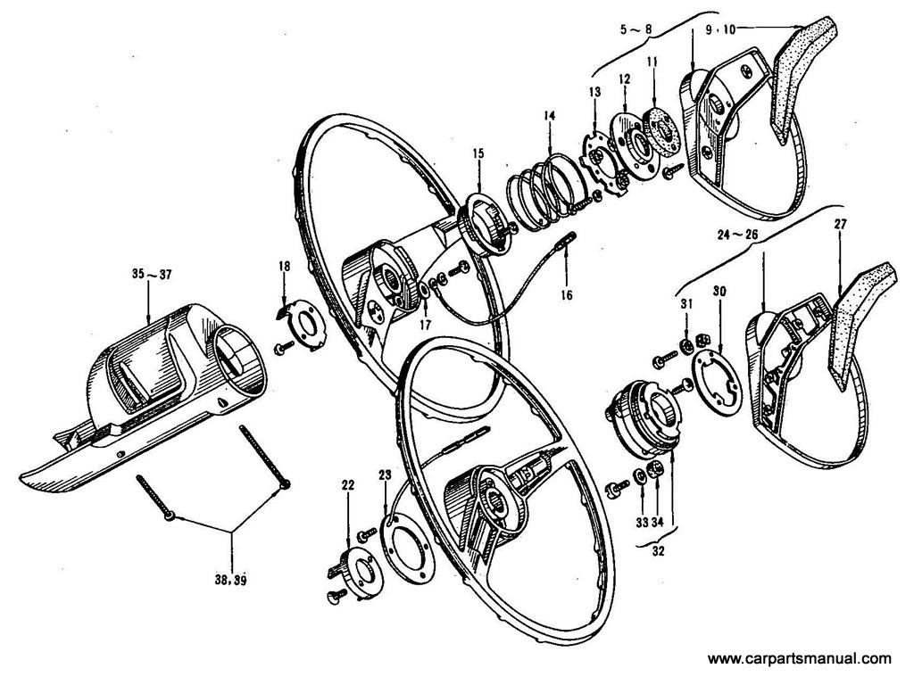 Datsun Bluebird (410) Steering