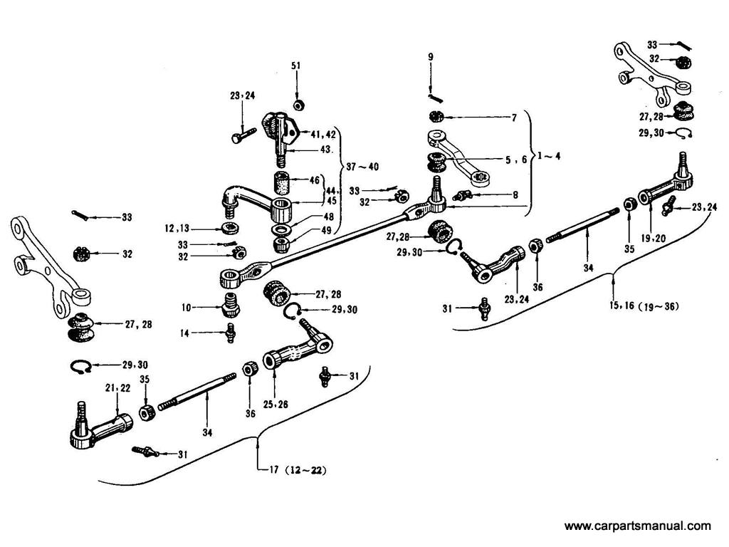 Datsun Bluebird (410) Steeling Linkage