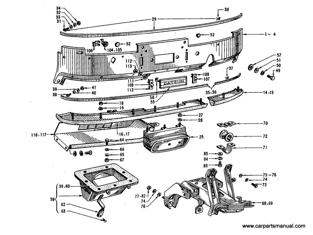 Datsun Bluebird (410) Instrument Panel & Fitting