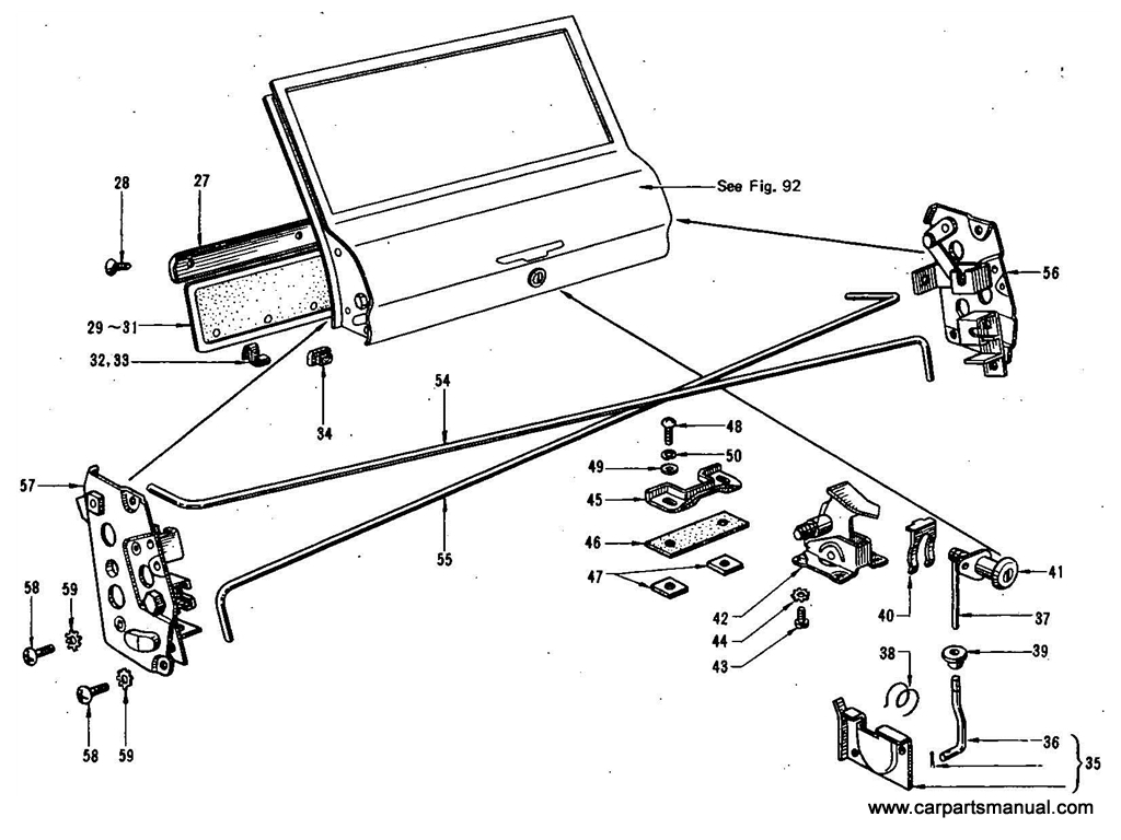 Datsun Bluebird (410) Side Window & Tail Gate Trimming (Wagon)