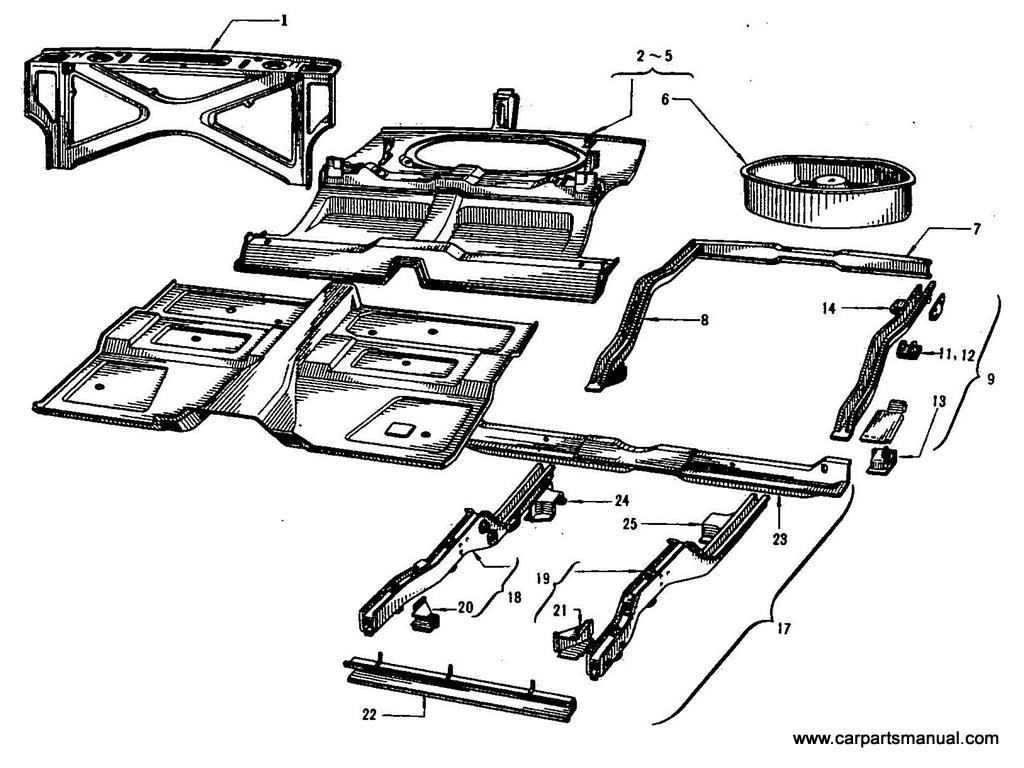 Datsun Bluebird (410) Panel Parts